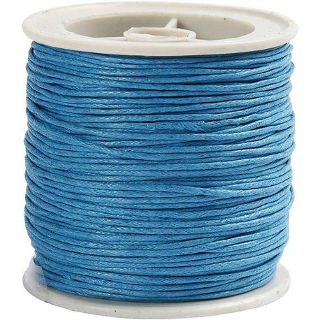 Gewaxt katoen - turquoise