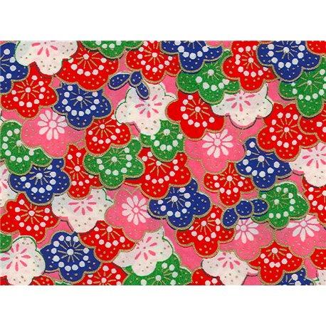 Washi papier motief bloemen - JP0543