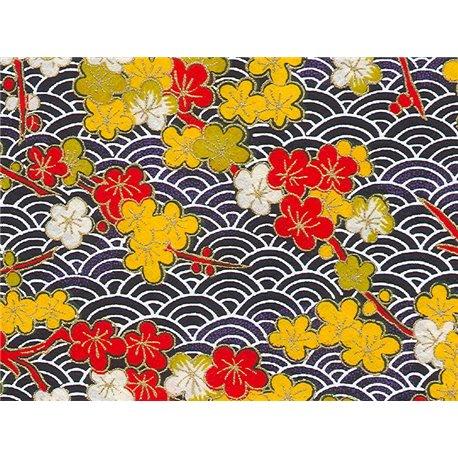 Washi papier motief bloemen en golven - JP0644