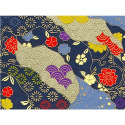 Washi papier motief bloemen en golven - JP0636
