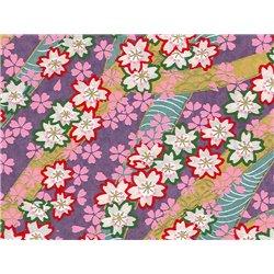 Washi papier motief bloemen en lijnen - JP0579