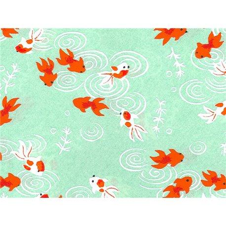 Washi papier motief vissen - JP0501