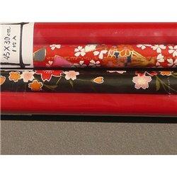 Origami papier 450x300 mm tweezijdig gekleurd (rood) - Washi Yuzen OP012