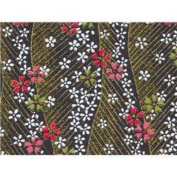 Washi papier motief bloemen en lijnen - JP0601