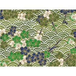 Washi papier motief bloemen en golven - JP0647