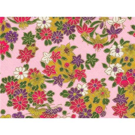 Washi papier motief bloemen - JP0536