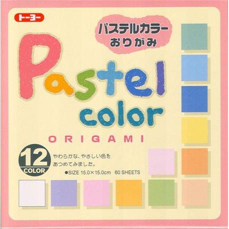 Origami papier 15x15 cm - pastelkleuren