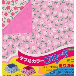 Origami papier 7,5x7,5 cm - tweezijdig bloemen