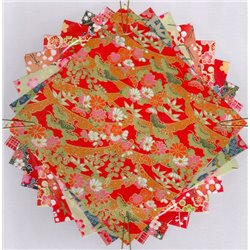 Origami papier 15x15 cm - Washi Yuzen motief Pruimen bloesem