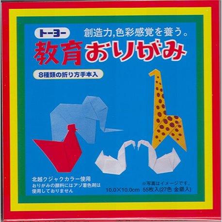 Origami papier 10x10 cm - Kyoiku