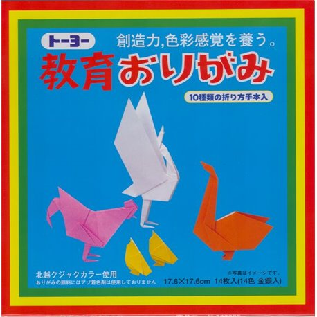 Origami papier 17,6x17,6 cm - Kyoiku