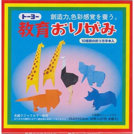 Origami papier 15x15 cm - Kyoiku