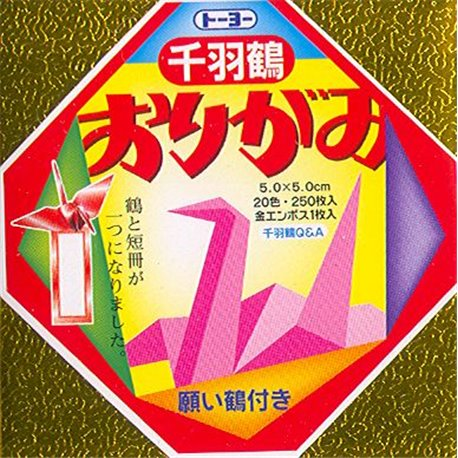 Origami papier 5x5 cm - Mini Senbatsuruyou