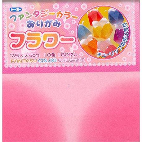 Origami papier 7,5x7,5 cm - Fantasie bloem