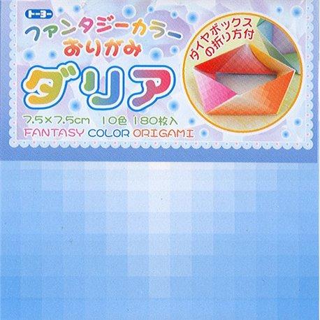 Origami papier 7,5x7,5 cm - Fantasie dia
