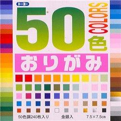 Origami papier 7,5x7,5 cm - 50 kleuren