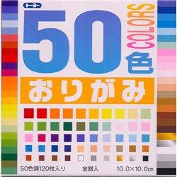 Origami papier 10x10 cm - 50 kleuren