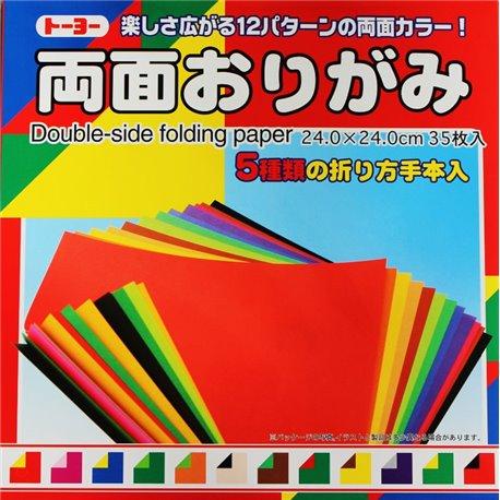 Origami papier 24x24 cm - tweezijdig