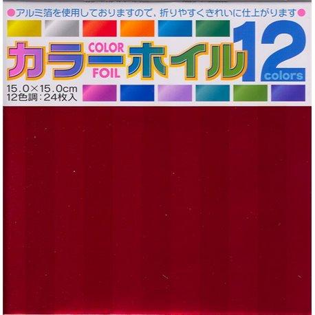 Gekleurd Folie Origami 15x15 cm