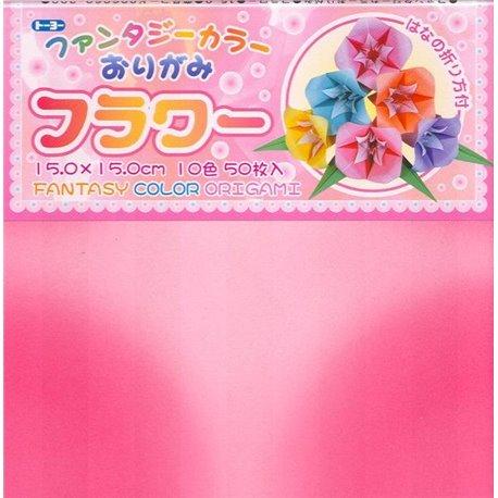 Origami papier 15x15 cm - Fantasie bloem