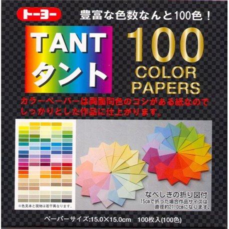 Origami papier 15x15 cm - Tant 100 kleuren