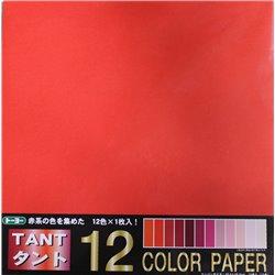 Origami papier 35x35 cm - Tant 12 kleuren Rood