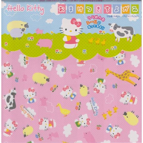 Origami papier 15x15 cm - Hello Kitty