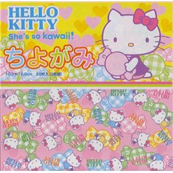 Origami papier 10x10 cm - Hello Kitty