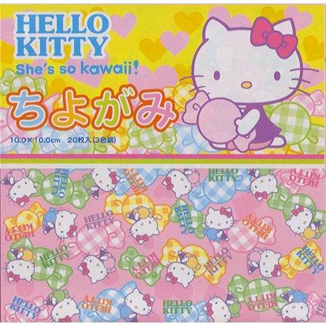 Origami papier 10x10 cm - Hello Kitty
