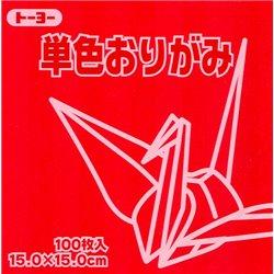 Eén kleur Origami 15x15 cm - Rood