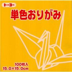 Eén kleur Origami 15x15 cm - Geel
