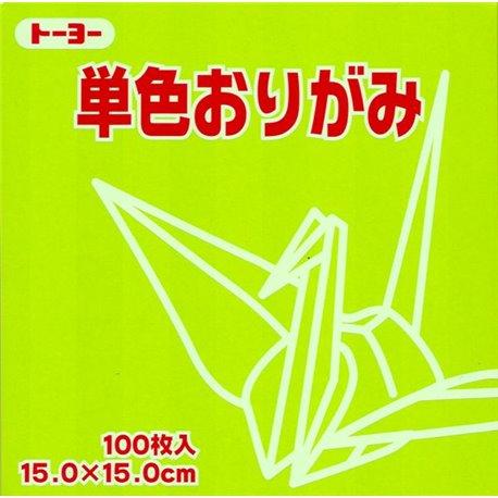 Eén kleur Origami 15x15 cm - Groen