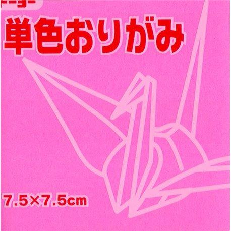 Eén kleur Origami 7,5x7,5 cm - Roze