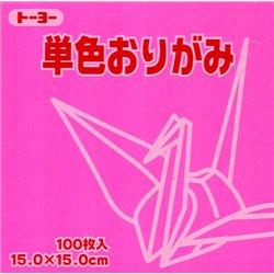 Eén kleur Origami 15x15 cm - Roze