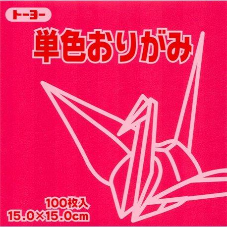 Eén kleur Origami 15x15 cm - Roze/Rood