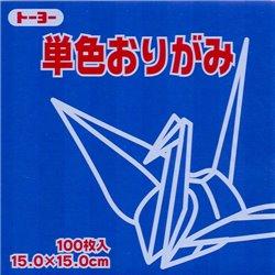 Eén kleur Origami 15x15 cm - Blauw