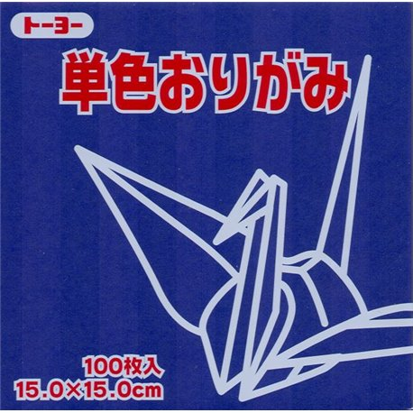 Eén kleur Origami 15x15 cm - Paars/Blauw