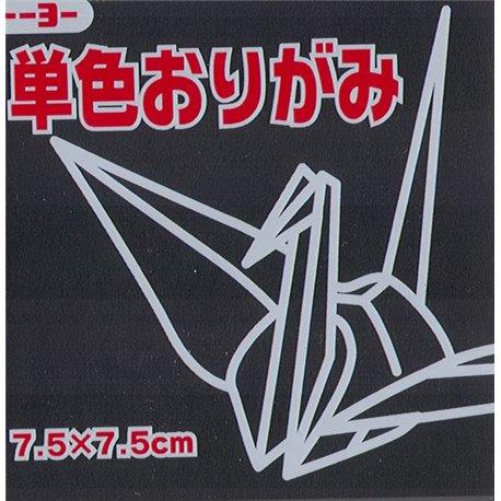 Eén kleur Origami 7,5x7,5 cm - Zwart