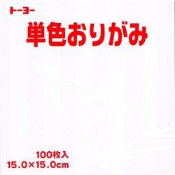Eén kleur Origami 15x15 cm - Wit