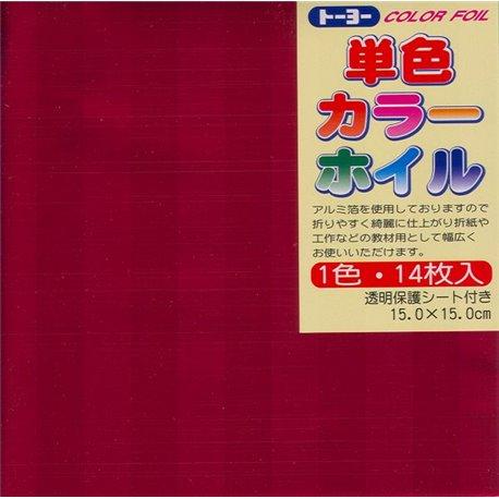Eén kleur Origami folie 15x15 cm -Rood