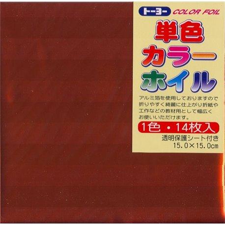 Eén kleur Origami folie 15x15 cm - Oranje