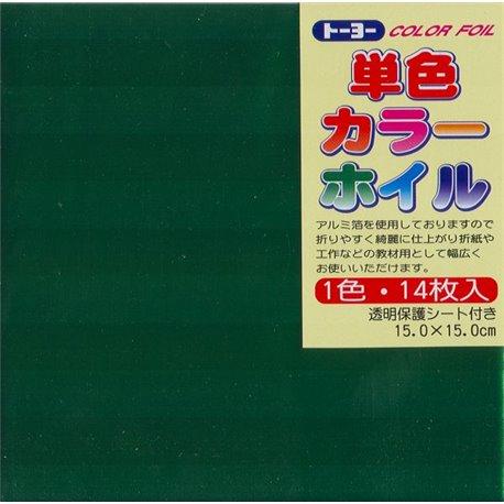 Eén kleur Origami folie 15x15 cm - Groen