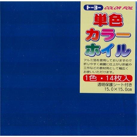 Eén kleur Origami folie 15x15 cm - Blauw