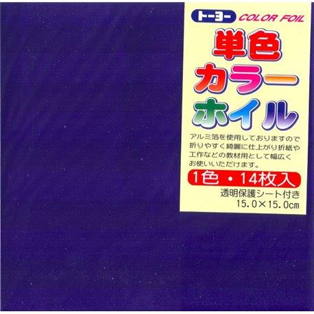 Eén kleur Origami folie 15x15 cm - Paars
