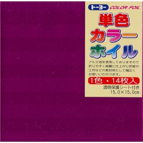 Eén kleur Origami folie 15x15 cm - Roze