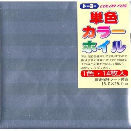 Eén kleur Origami folie 15x15 cm - Zilver