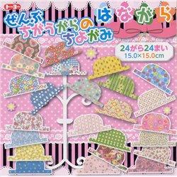 Origami papier 15x15 cm - Bloempatronen