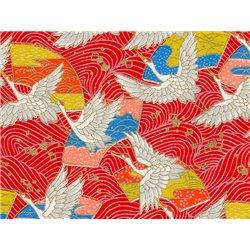 Washi papier motief kraanvogels - JP0771