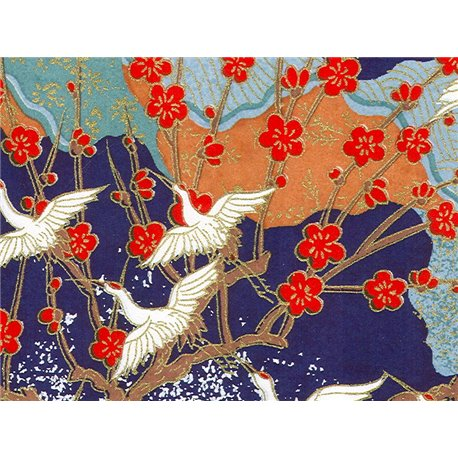 Washi papier motief kraanvogels - JP0781