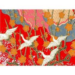 Washi papier motief kraanvogels - JP0780
